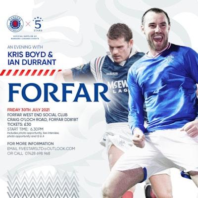 An Evening with Ian Durrant and Kris Boyd Forfar