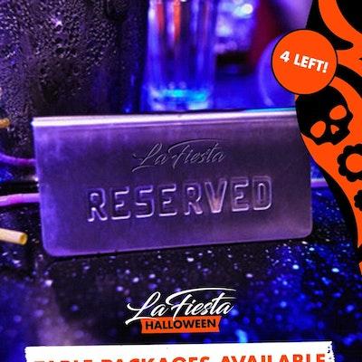 LA FIESTA HALLOWEEN - VIP TABLE PACKAGES