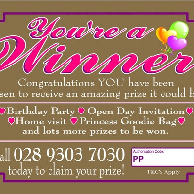 "You're a ""Winner"" Ticket (PRINCESS)"