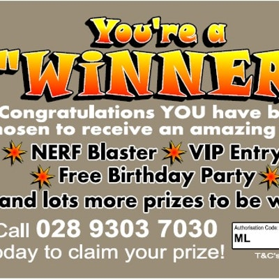 "You're a ""Winner"" Ticket (NERF)"