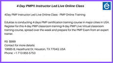 Online training course for PMP Exam