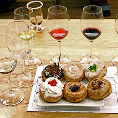Wine and Tantrum Doughnuts tasting